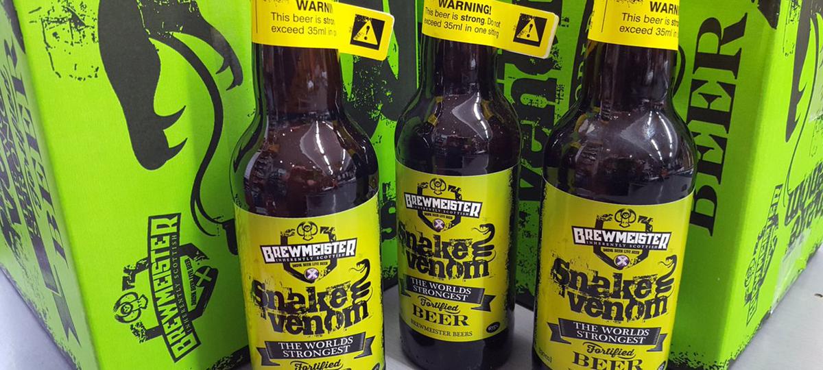 CervezasExtrañas: Snake's Venom, la cerveza más fuerte del mundo ...