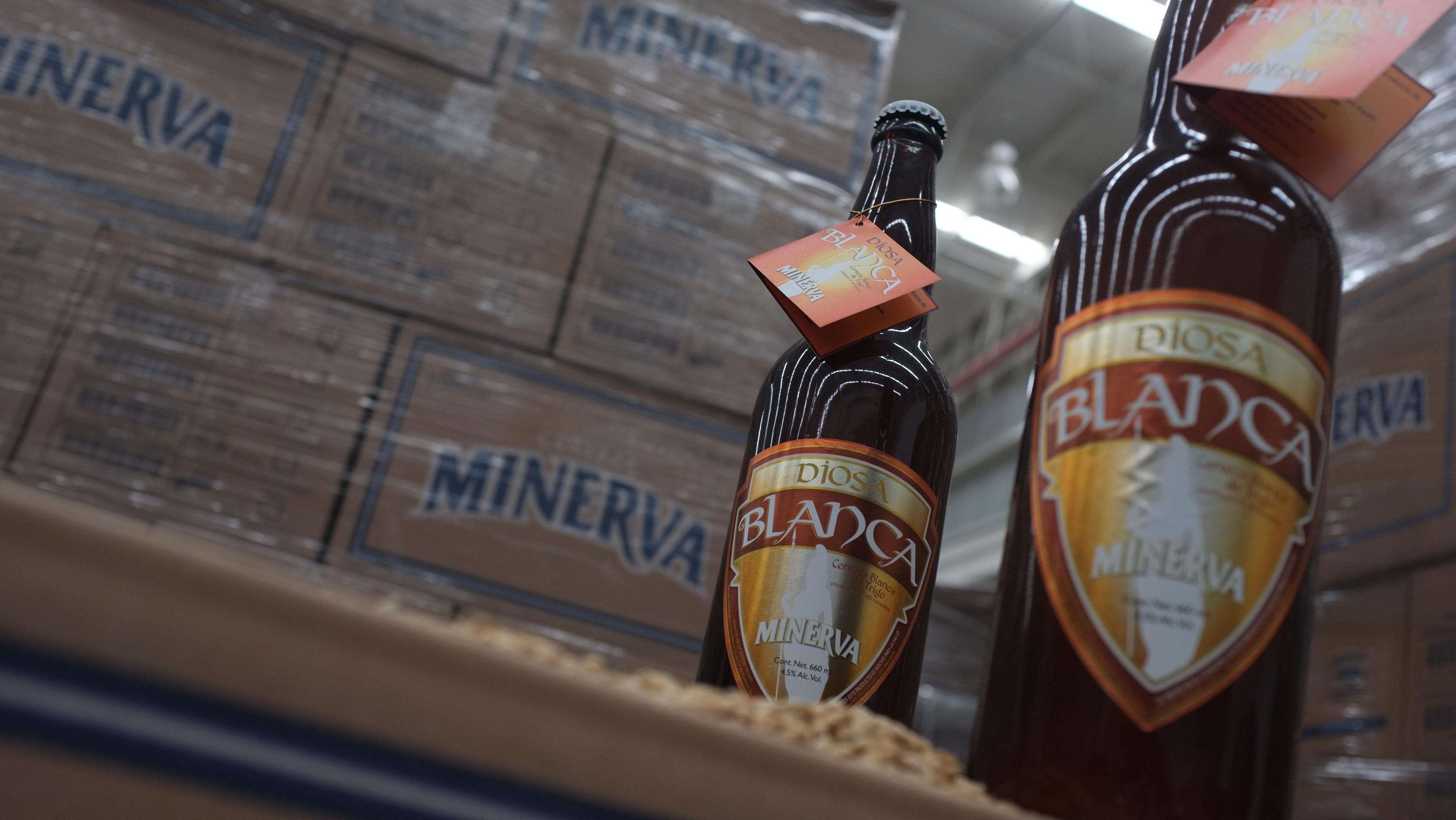 Cerveza de trigo mexicana minerva
